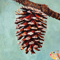 Pine Cone Painting 543