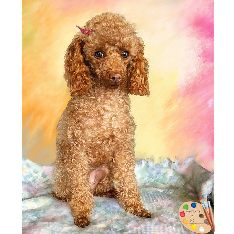 Poodle Dog Painting 444