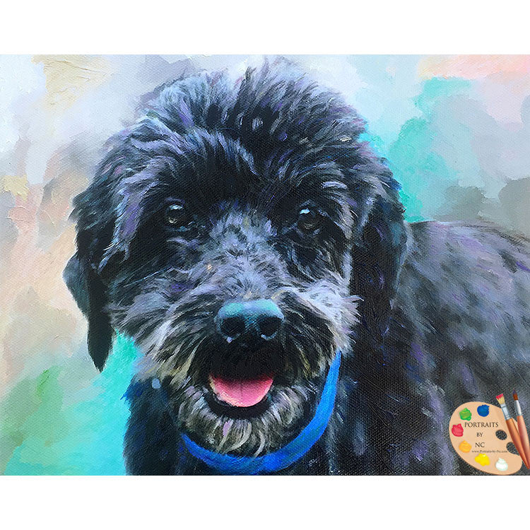 Poodle Dog Painting 464