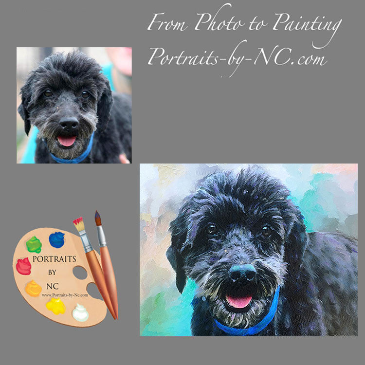 Poodle Dog Portrait from Photo 464