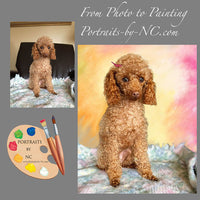 Poodle Dog Portrait from Photo 444