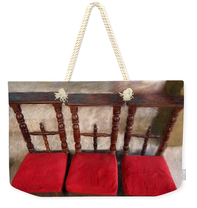 Prie Dieu - Prayer Kneeler - Weekender Tote Bag - Portraits by NC
