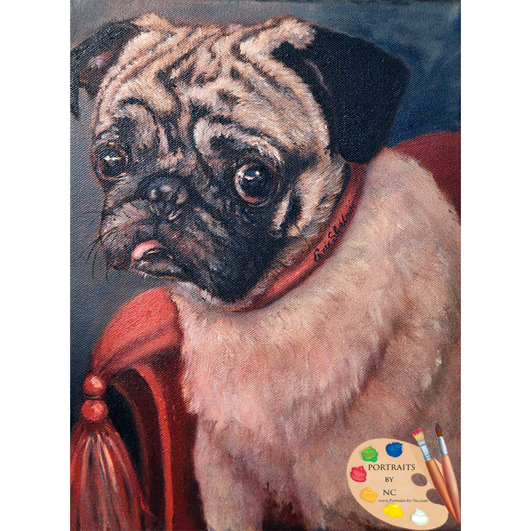Pug Dog Painting Pugsy 131