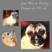 Pug Portrait from Photo 470