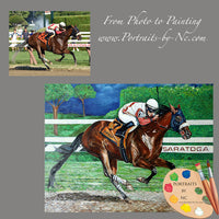 racehorse portrait from photo 298