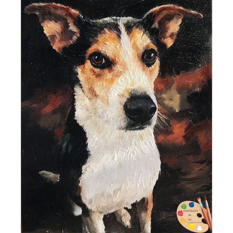 Rat Terrier Dog Painting 493