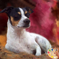 Rat Terrier Oil Portrait