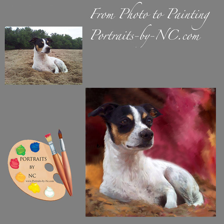 Rat Terrier Portrait from Photo 225