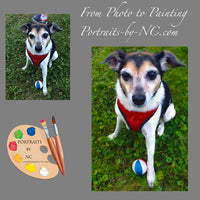 Rat Terrier Portrait from Photo 392