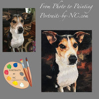 Rat Terrier Dog Portrait from Photo 493