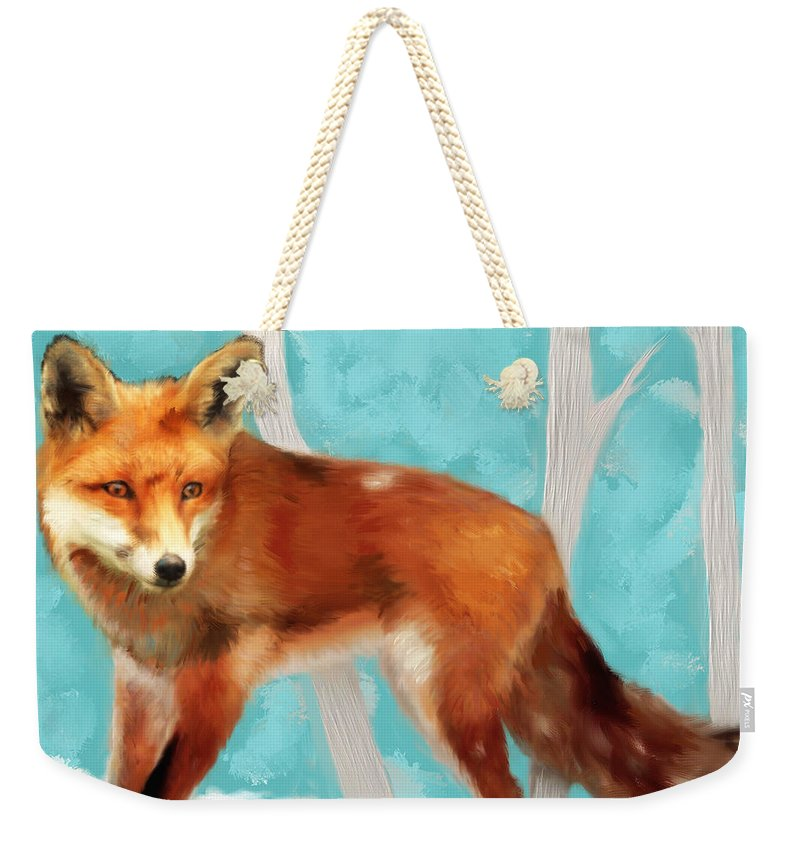 Red Fox Tote Bag Neutral