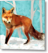 Red Fox - Metal Print 222