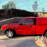 Red Truck Custom Portrait 627