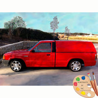 Red Truck Custom Painting 627