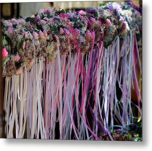 Rose Garland - Metal Print