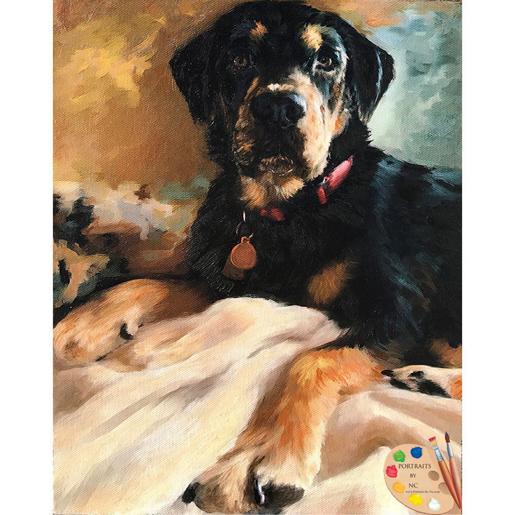 Rottweiler Dog Painting 509