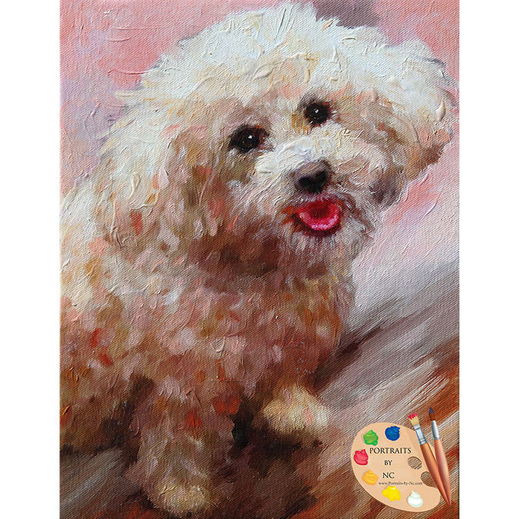 Schnoodle Dog Painting 522