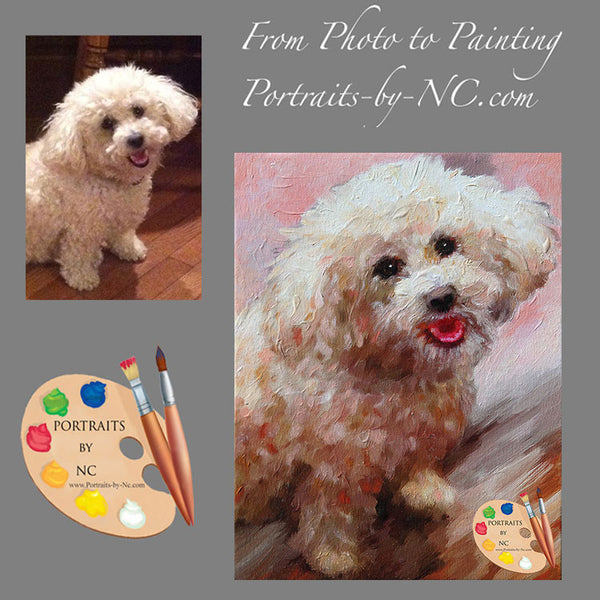 schnoodle painting from photo
