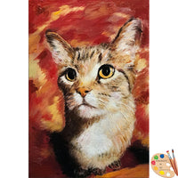 Cat Portrait in Oil - Portraits by NC
