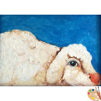 Nursery Art Sheep Painting 312