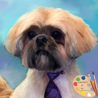 Shih Tzu Dog Pet Painting 629