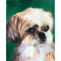 Shih Tzu Dog Painting 504