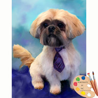 Shih Tzu Dog Pet Portrait 629