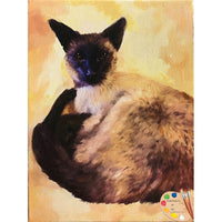 Siamese Cat Painting 516
