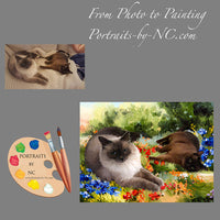 Siamese Cats Portrait from Photo 512