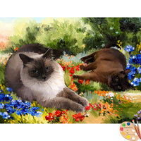 Siamese Cats Painting 512