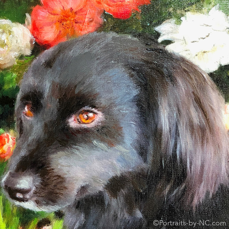 Cocker Spaniel Mix Painting