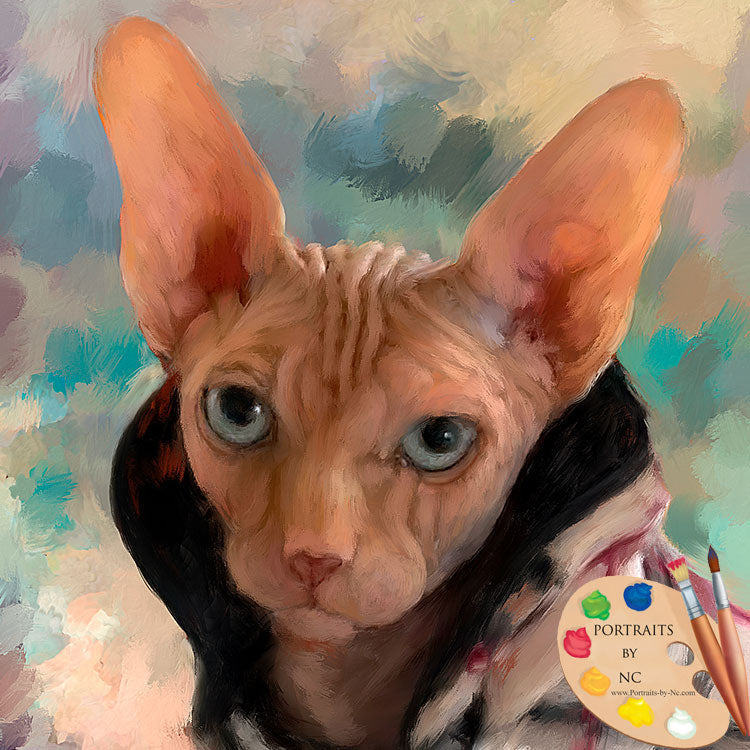 Sphinx Cat Painting 635