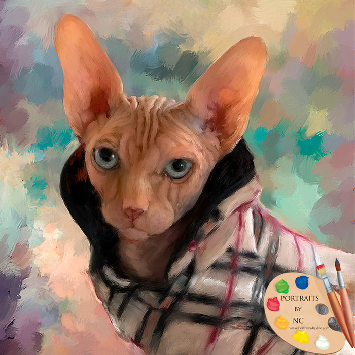 Sphinx Cat Portrait 635