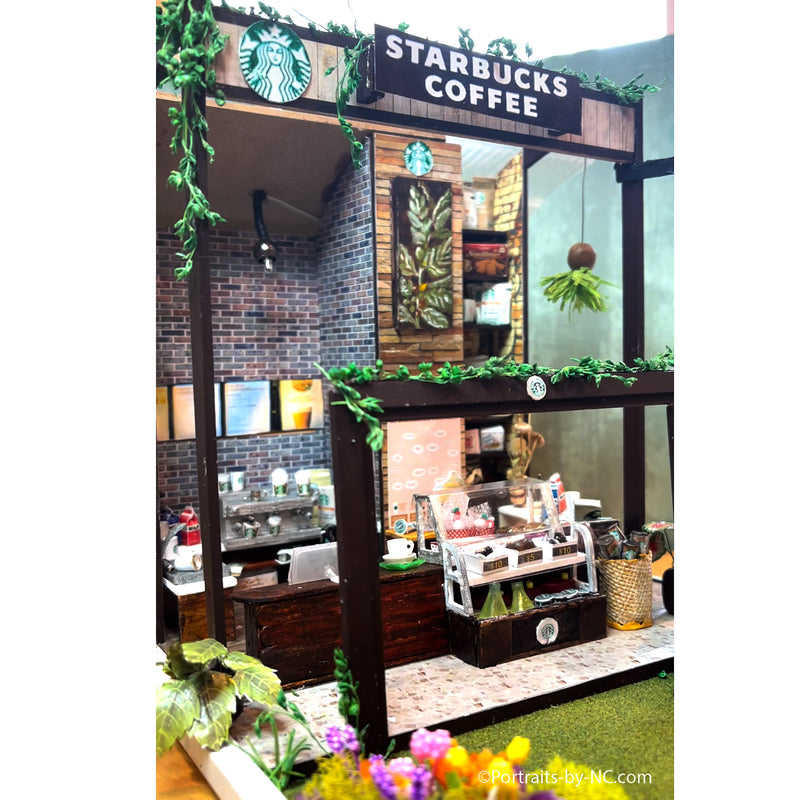 starbucks coffe minature diorama