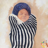 Stillborn Sleeping Baby Portrait 474