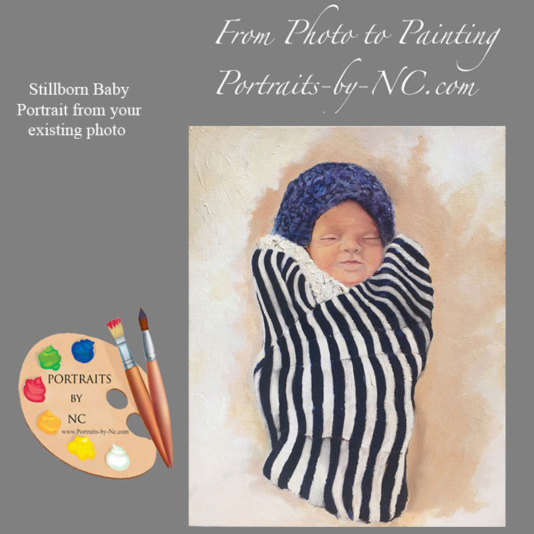 Stillborn Baby Portrait from Photo 474