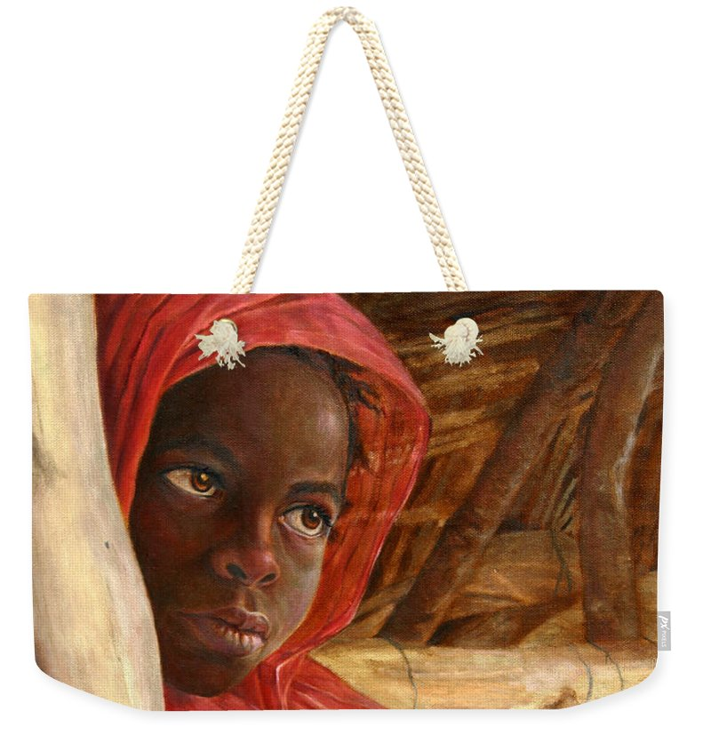 Sudanese Girl - Weekender Tote Bag Neutral