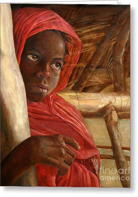 Sudanese Girl - Greeting Card 105