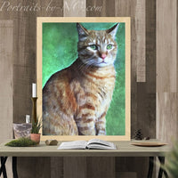 Tabby Cat - Metal Print
