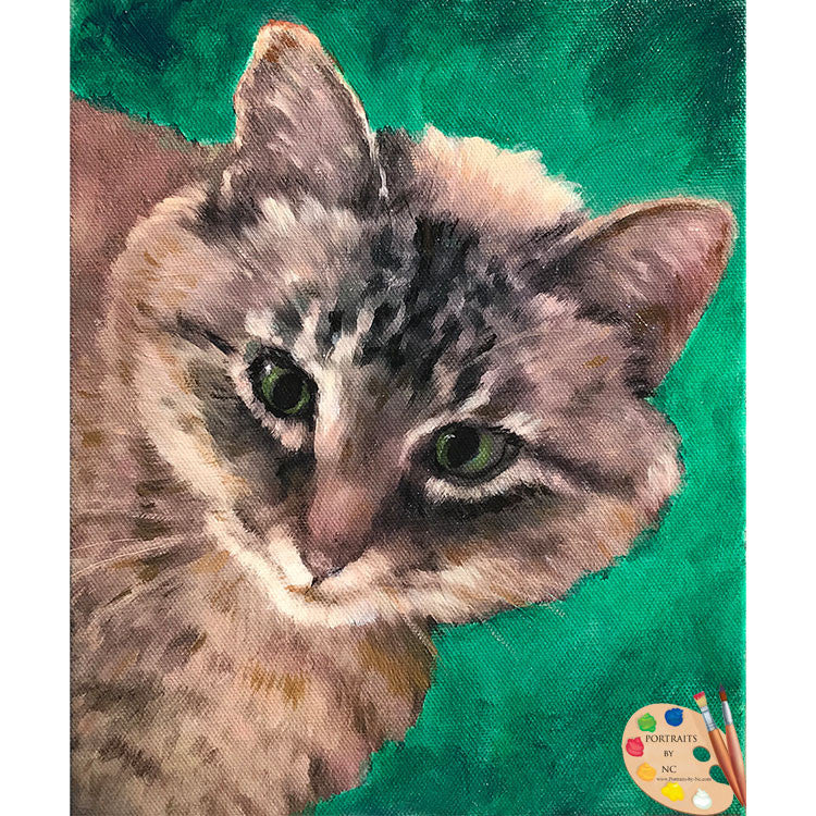 Tabby Cat Painting 503