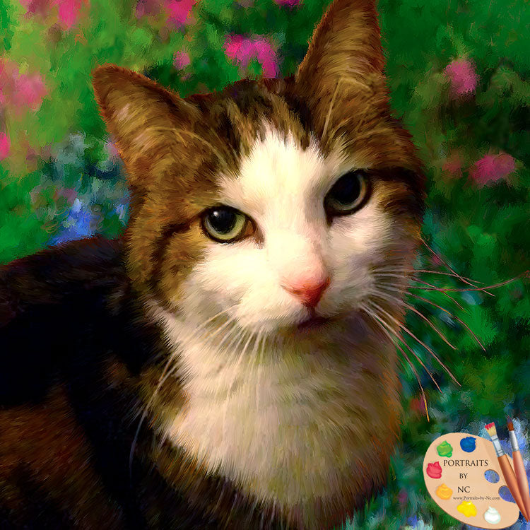 tabby cat painting 611