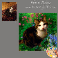 tabby cat portrait from photo 611