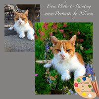 Tabby Cat Portrait from Photo 626