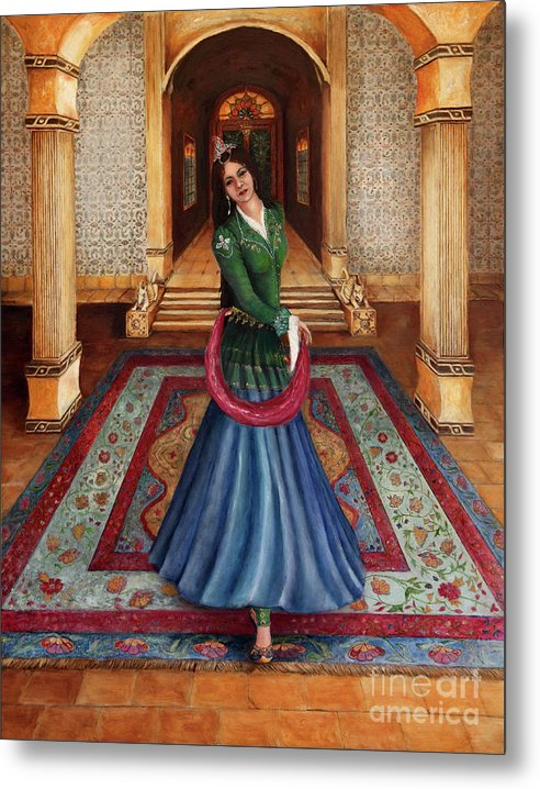 Court Dancer - Metal Print