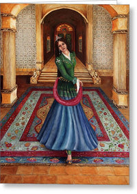 The Court Dancer - Greeting Card 155