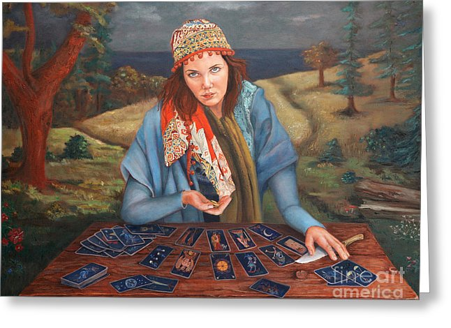 The Gypsy Fortune Teller - Greeting Card 138