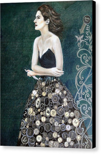The Writer's Muse - Canvas Print Black Sides