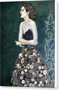 The Writer's Muse - Canvas Print White Sides