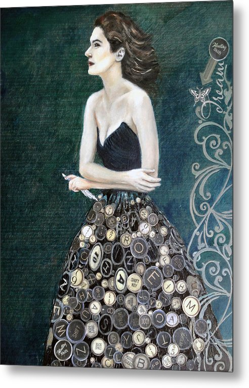 The Writer's Muse - Metal Print