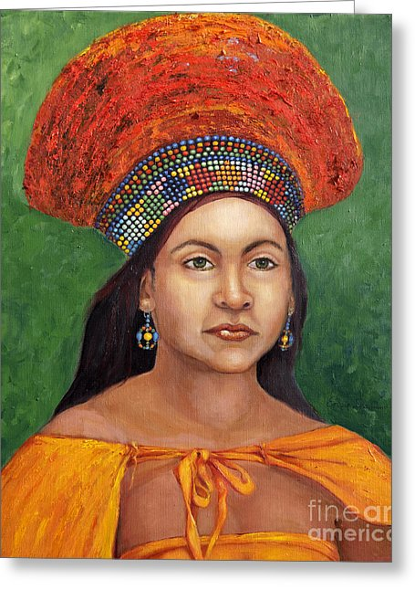The Zulu Bride - Greeting Card 174